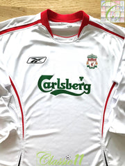 2005/06 Liverpool Away Football Shirt. (L)