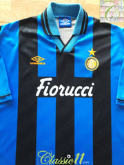 1994/95 Internazionale Home Football Shirt (XXL)