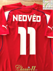 2004/05 Czech Republic Home Football Shirt Nedvĕd #11 (M)