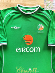2001/02 Republic of Ireland Home Football Shirt (L)