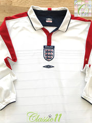 2003/04 England Home Football Shirt. (XL)
