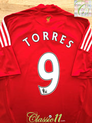 2008/09 Liverpool Home Premier League Football Shirt Torres #9 (L)