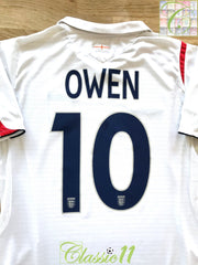 2005/06 England Home Football Shirt Owen #10 (S)