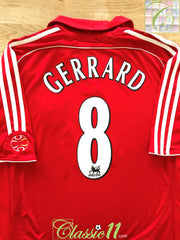 2006/07 Liverpool Home Premier League Football Shirt Gerrard #8 (XL)