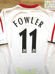 2005/06 Liverpool Away Premier League Football Shirt Fowler 11 (XL)