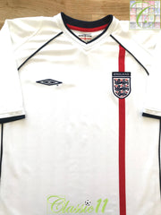 2001/02 England Home Football Shirt (L)