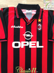 1997/98 AC Milan Home Football Shirt (XXL)