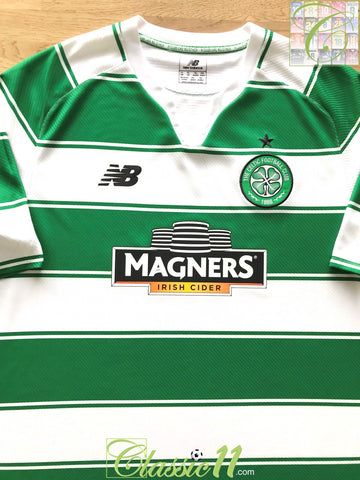 2015/16 Celtic Home Football Shirt (Size 18) (M)