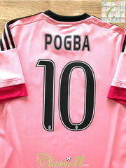 2015/16 Juventus Away Football Shirt Pogba #10 (S)