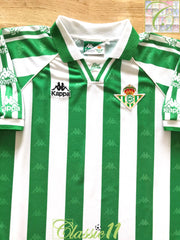 1995/96 Real Betis Home Football Shirt (L)