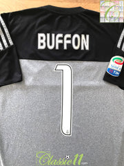 2015/16 Juventus Goalkeeper Serie A Football Shirt Buffon #1 (M)
