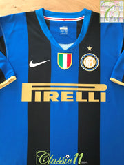 2008/09 Internazionale Home Scudetto Football Shirt (L)