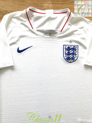 2018/19 England Home Football Shirt (M)