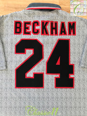 1995/96 Man Utd Away Football Shirt Beckham #24 (XL)