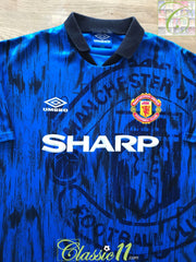 1992/93 Man Utd Away Football Shirt (S)