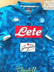 2018/19 Napoli Home Player Issue Football Shirt (XXL)
