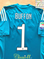 2017/18 Juventus Goalkeeper Serie A Adizero Football Shirt Buffon #1 (S)