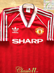 1988/89 Man Utd Home Football Shirt (Y)