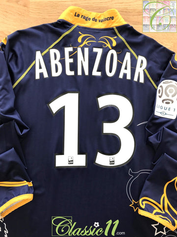 2010/11 Arles Avignon Home Ligue 1 Football Shirt. Abenzoar #13 (L)