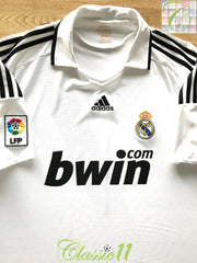 2008/09 Real Madrid Home La Liga Football Shirt (XL)
