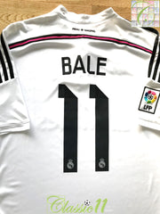 2014/15 Real Madrid Home La Liga Football Shirt Bale #11 (XL)