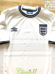 1999/00 England Home Football Shirt (L)
