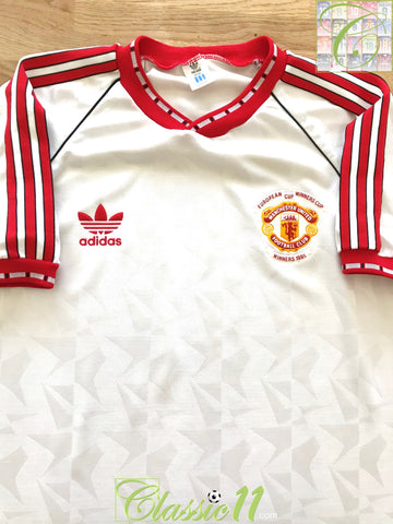1991 Man Utd European Cup Winners Cup Football Shirt (L)