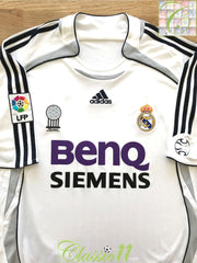 2006/07 Real Madrid Home La Liga Football Shirt (XL)