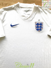 2014/15 England Home Football Shirt (M)