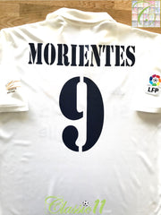 2002/03 Real Madrid Home La Liga Football Shirt Morientes #9 (M)