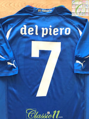 2010/12 Italy Home Player Issue Football Shirt Del Piero #7 (M)