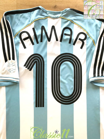 2006/07 Argentina Home Football Shirt Aimar #10 (L)