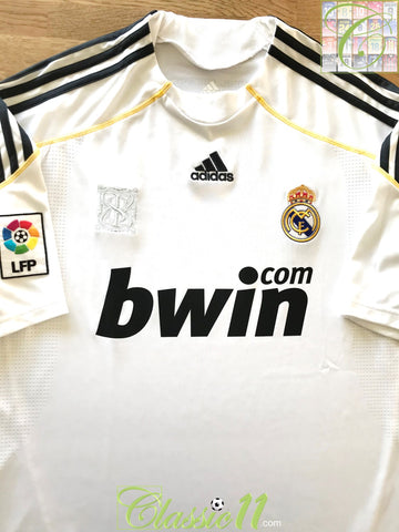 2009/10 Real Madrid Home La Liga Football Shirt (M)