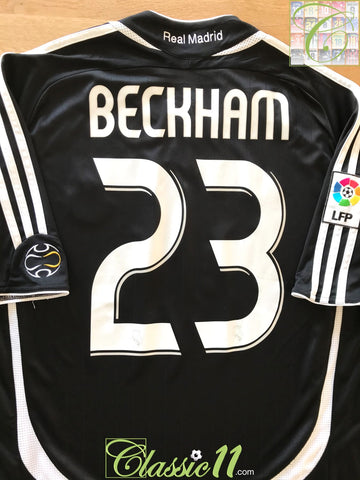 2006/07 Real Madrid Away La Liga Football Shirt Beckham #7 (L)