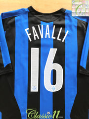 2005/06 Internazionale Home Football Shirt Favalli #16 (XXL)