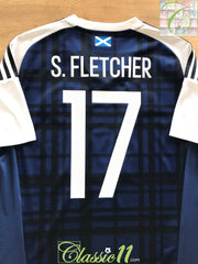 2016/17 Scotland Home Football Shirt S. Fletcher #17 (L)