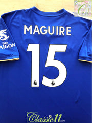 2018/19 Leicester City Home Premier League Football Shirt Maguire #15 (XL)