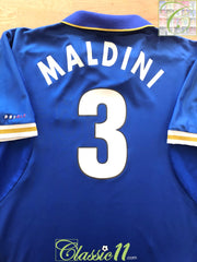 1996/97 Italy Home Football Shirt Maldini #3 (L)