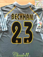 2003/04 Real Madrid 3rd La Liga Football Shirt Beckham #23 (M)