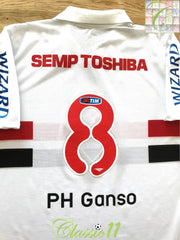 2013/14 Sao Paulo Home Football Shirt PH Ganso #8 (XL)
