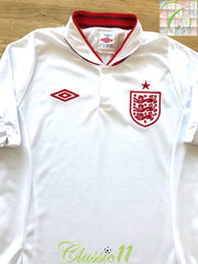 2012/13 England Home Football Shirt (S)