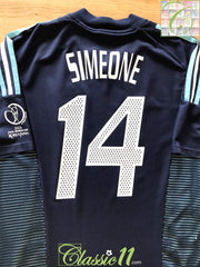2002 Argentina Away World Cup Football Shirt Simeone #14 (L)