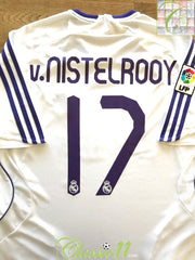 2007/08 Real Madrid Home La Liga Football Shirt v.Nistelrooy #17 (M)