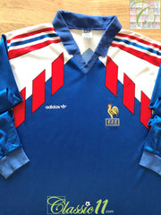 1990/91 France Home Player Issue Football Shirt. (L)