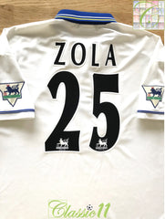 1998/99 Chelsea Away Premier League Football Shirt Zola #25 (XL)