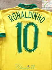 2006/07 Brazil Home Football Shirt Ronaldinho #10 (S)
