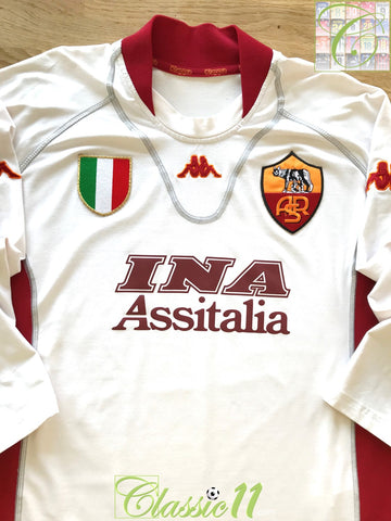 2001/02 Roma Away Football Shirt. (3XL)