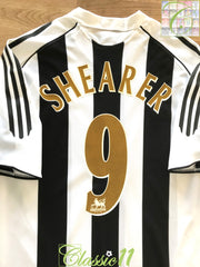 2005/06 Newcastle United Home Premier League Football Shirt Shearer #9 (M)