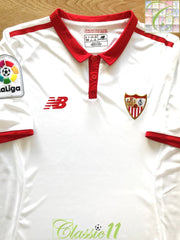 2016/17 Sevilla Home La Liga Football Shirt (S)
