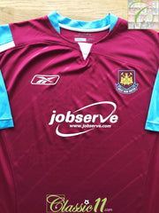 2005/06 West Ham Home Football Shirt (S)